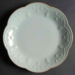 Lenox French Perle Ice Blue Accent Plates (x5)